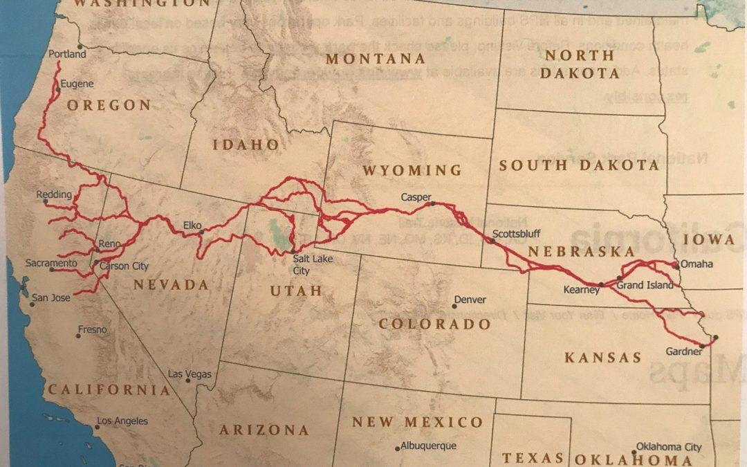 THE CALIFORNIA, OREGON AND WASHINGTON TRAILS